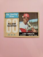1968 Topps Lou Brock #372 EX/MT - NM HOF  St Louis Cardinals Baseball Card NICE!