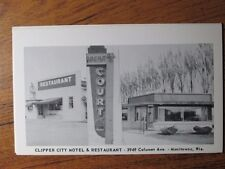 CLIPPER CITY MOTEL & RESTAURANT - 3949 CALUMET AVE, MANITOWOC, WI POSTCARD