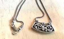 SILPADA Sterling Silver Filigree Pendant / Necklace N1472 -  *SILPADA BOX* CUTE!