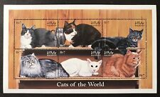 MALDIVES CATS STAMP SHEET '98 MNH CATS OF THE WORLD PERSIAN TABBY MANX SHORTHAIR