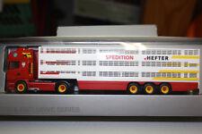 """Herpa Scania R09 TL Viehtransporter """"Hefter"""" Nr. 923392"""