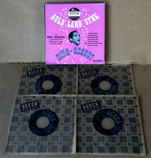 BING CROSBY - AULD LANG SYNE -  DECCA  LABEL - (4) 45'S - BOX SET  - 1950