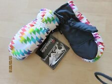 Girls Thinsulate Winter Ski Mittens w/ Palm Grips Ages 4-6X New Snow Shimmer