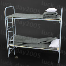 Toy Model WWII German 1/6 Scale Metal & Wooden Bunk Bed Set