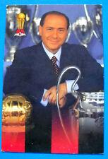 CARTOLINA UFFICIALE A.C. MILAN 1999/2000 - SILVIO BERLUSCONI - 10X15