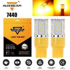 AUXBEAM 7440 T20 LED Light Bulbs yellow for Honda Accord Civic Odyssey 1996-2016
