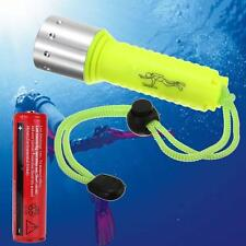 8000 Lumen LED XM-L T6 LED Diving 60M Flashlight Torch Scuba + 18650 Battery GL