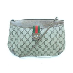 Vintage Gucci Shoulder Bag  Light Brown PVC 2200608