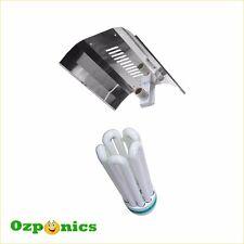 Hydroponics Mirror Aluminum Reflector 130W CFL Grow Light Lamp Bulb 6400K Kit