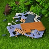 DIY Dollhouse Mini House Cottage Wooden Toy Doll's CL Accessor Q6P6