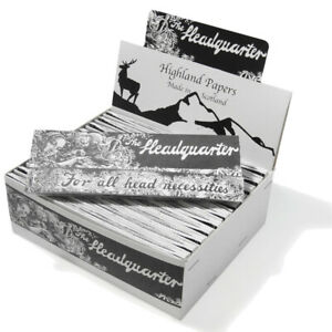 FULL BOX HEADQUARTERS KINGSIZE RIZLA ROLLING PAPERS ROACH FILTER TIPS 24 PACK