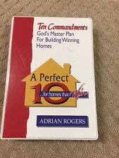 TEN COMMANDMENTS ADRAIN ROGERS CASSETTES-GOD'S MASTER PLAN FOR BUILDING WINNING