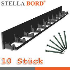 Stella Bord 10 x Rasenkante 8x100cm Beeteinfassung Mähkante + 50 Nägel