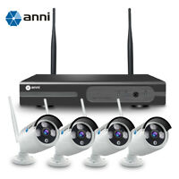 anni 8CH Wireless 1080P NVR CCTV WiFi 720P Outdoor Security IP Camera System Kit
