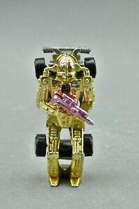 Hot Wheels Zombot Racer Car Gold Pink Gun Die Cast Mattel 1986