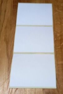 """Large Plain White Sticky Self Adhesive Postage Parcel Labels 100 x 75mm. 4 X 3"""""""
