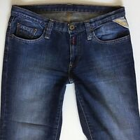 Ladies Replay WV541 Bootcut blue Faded Stretch jeans W28 L32 Size 8 (240)