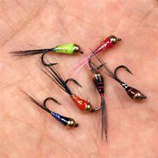 VERDE HOT HEAD con Perline Fagiano Coda ninfe ancora ACQUA FLY Fishing Flies Trout