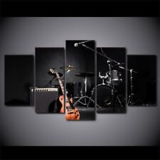 Drum Guitar Micro Music Instrument 5 pieces Canvas Wall Poster Home Decor