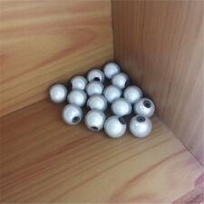 20 Perles 8mm Blanc Miracle magique effet oeil de poisson Creation Bijoux