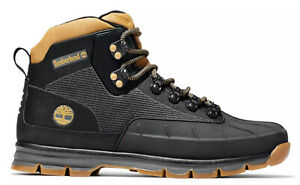 New TIMBERLAND Euro Hiker Mens Mid Boots duck Textile shoes black all sizes