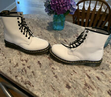 Doc Marten Boots White Womens Size 9