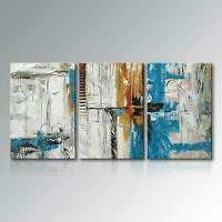 Hand Painted Canvas Wall Art Abstract Oil Painting Blue Sky Modern Home Decor