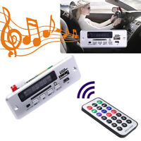 Bluetooth 5.0 Car MP3 Decoder Board USB TF Panel Module with Remote Controller M