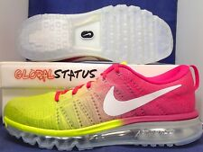 NIKE ID FLYKNIT AIR MAX VOLT PINK RUNNING SHOES 874793 992 WOMENS 11 MENS 9.5
