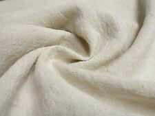 ☻ Stoffe Ital. Leinen Crash uni hell sand beige melange ☻