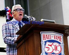 Harry Caray Cardinals A's White Sox Cubs 1989 Hof Induction 8x10 E