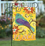 Toland Bird of Peace 12.5 x 18 Colorful Yellow Flower Floral Garden Flag