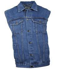 Western Speicher Jeansweste blau Kutte Weste Baumwolle S bis 4XL