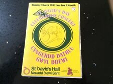 Autographed Programme - BRYN TERFEL - St David's Day Concert 1993 - Cardiff