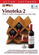 VINOTEKA 2 - LOGICIEL MAC - TRILINGUE FR / E / D - DVD-ROM - NEUF NEW NEU