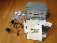 DEAL! KOCOUR K1000 THICKNESS TESTER W/ PROBE, PAPERWORK & THICKNESS STANDARDS