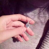 Womens Square Zircon Charm Crystal Rhinestone Necklaces Wedding Bridal Bride one