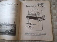 """REVUE TECHNIQUE BMC 850 - MORRIS """"Mini-Minor"""" et AUSTIN """"Seven"""""""