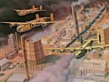 """""""Tidal Wave Over Ploesti"""", Bryan Moon, with five WWII B-24 Veteran Signatures"""