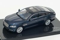 Jaguar XJ in Dk Sapphire, official Jaguar dealer model, IXO 1:43 scale