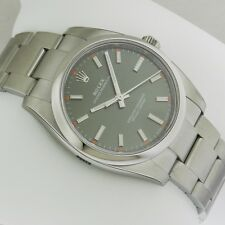 Rolex 114200 Oyster Perpetual Olive Green Dial Stainless Steel UNWORN Ret: $5050