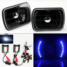 "7X6"" 8000K HID Xenon H4 Black LED DRL Glass Headlight Conversion w/ Bulbs TOYOTA"