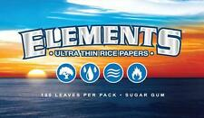 25pk Elements® Ultra Thin Single Wide Rice Rolling Papers