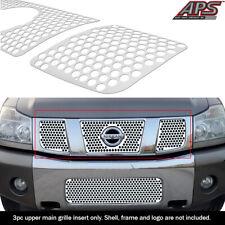 Fits 2004-2007 Nissan Armada/Titan Logo Show Stainless Laser Cut Grille Sheet