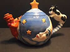 The Cow Jumped Moon Tea Pot Designpac Inc, Nursery Rhyme Nice! Very Collectable!