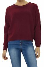 New Ladies Ribbed Knitted Oversized Sweatshirt Thermal Knit Jumper Top 18-24