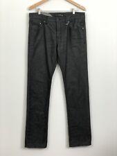 BILLABONG Mens Dark Grey Slim Fit Straight Leg Button Fly Denim Jeans Size 34