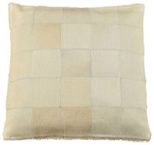 Genuine Cowhide Pillow 50 x 50 CM Cream White Cushion Cover