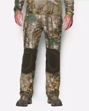 Mens Under Armour Cold Gear Scent Control Mossy Oak Fleece Pants Size 3XL New