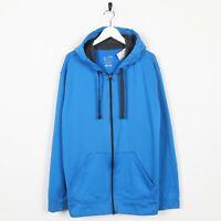 Vintage C9 By Champion Zip Up Polyester Hoodie Sweatshirt Blue | XL